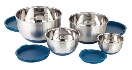 PADERNO 4 PIECE MIXING BOWL SET W/ LIDS