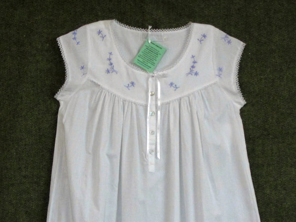 100% ORGANIC COTTON LAVENDER CAP SLEEVE NIGHTIE