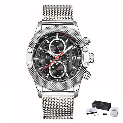 BENYAR SPORTS CHRONOGRAPH SILVER/BLACK