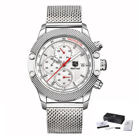 BENYAR SPORTS CHRONOGRAPH SILVER/WHITE