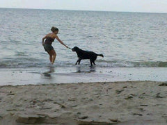 Heather and Skully at Lake Erie