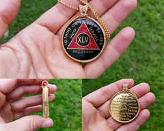 Recovery Coin Pendant in 14kt Gold Fill