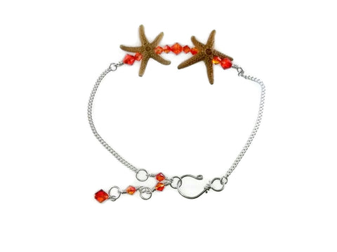 Double Starfish Bar Ankle Bracelet