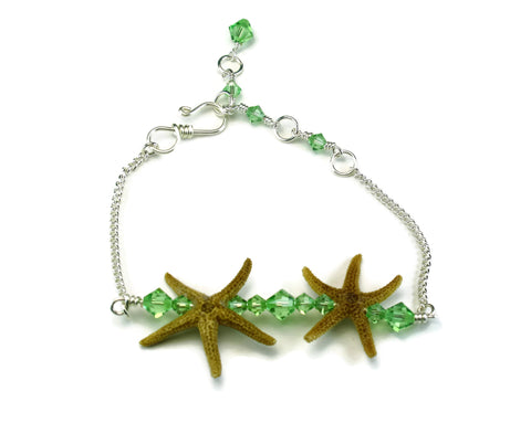 Double Starfish Bar Bracelet