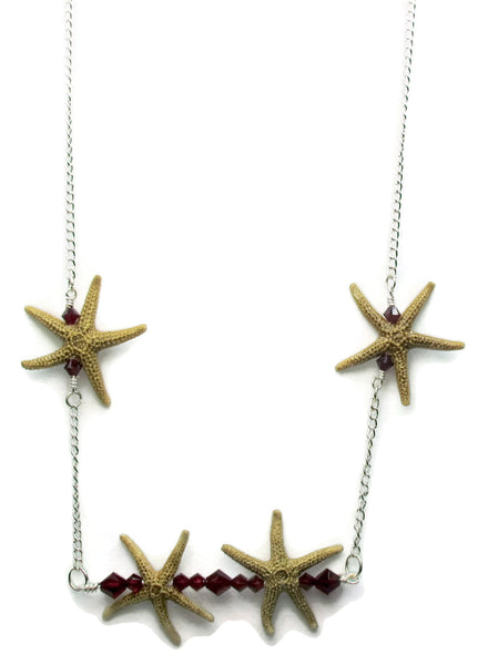 Double Starfish Bar Necklace