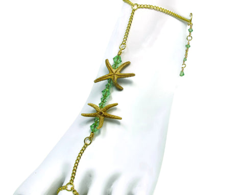 Double Starfish Bar Barefoot Sandal