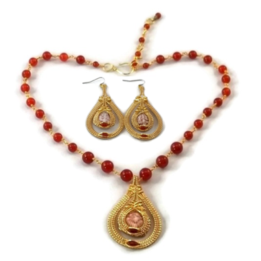 Double Drop Earring & Necklace Set - 14kt Gold Fill