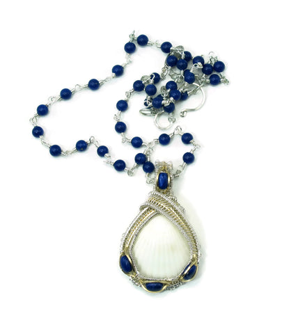 Lapis Gemstone Chain with Small Lapis Pendant Gift Set