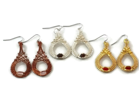 mini cutout drop earrings group