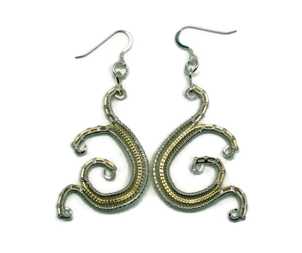 Mini Scroll Earrings