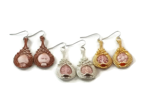 mini shell drop earrings group
