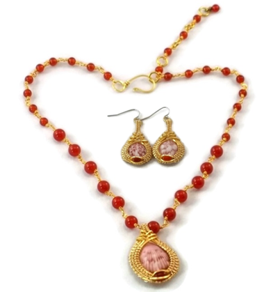 Mini Shell Drop Earring & Necklace Set - 14kt Gold Fill