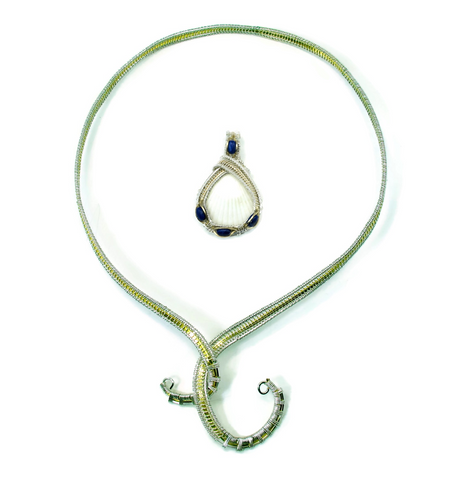 Neckwire with Small Lapis Pendant Gift Set