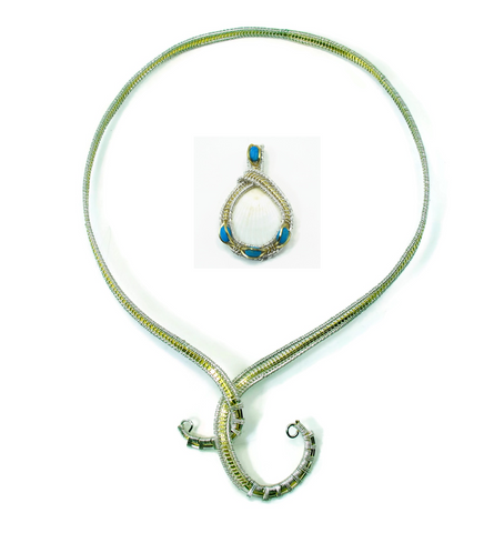 Neckwire with Small Turquoise Pendant Gift Set