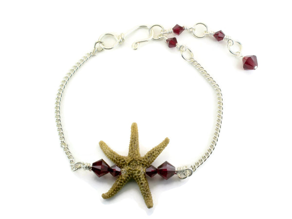 Single Starfish Bar Bracelet