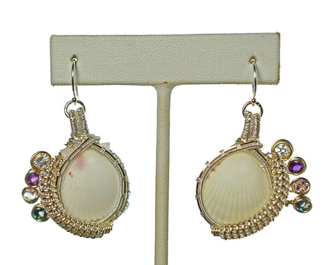 White Venus Earrings