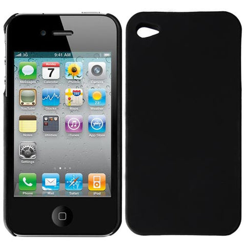 Skque Black Rubberized hard Case Cover for Apple iPhone 4S - Hard shell