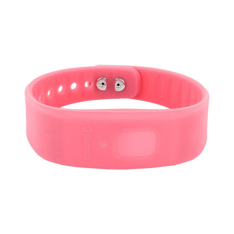 Skque pink Bluetooth Incoming Call Reminder Buzz Wrist Band for Apple iPhone 4 4S and Other Smart Phones