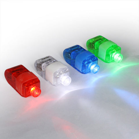 Skque LED Finger Torch Light 4 Colors, Blue, White, Red, Green