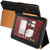 Skque New Style Black Leather for Motorola Xoom Tablet