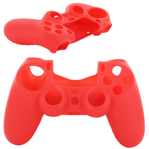 Skque® Soft Silicone Skin Case Cover for Sony PlayStation 4 PS4 Controller, Red