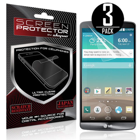 Skque® 3 Pcs HD Clear Screen Protector for LG G4