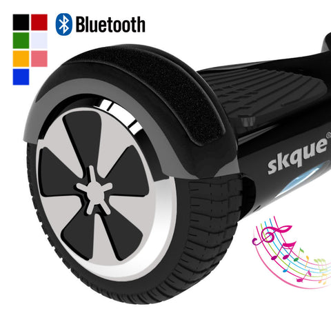 "Balancing Wheel, Skque® 6.5"" Original 2 Wheel Self Balance Electric Scooter with Bluetooth Speaker & LED & Bumper Stripe with LG/Samsung 44000mAh battery pack"