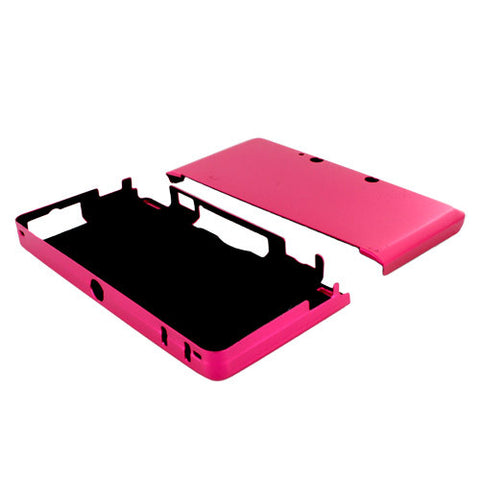 Skque Aluminum Snap-On Case Cover for Nintendo 3DS-color in Hot Pink