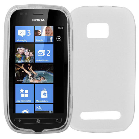 Skque TPU Skin Protector Case Cover for Nokia Lumia 710, Case in Clear