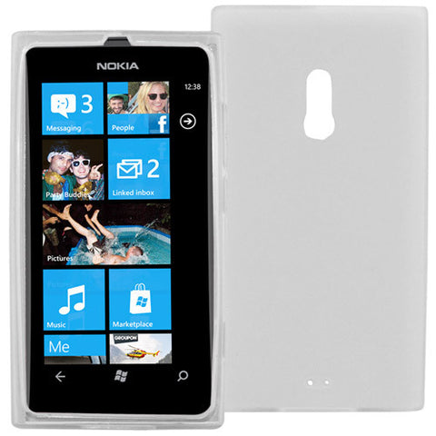 Skque TPU Gel Skin Shield Case for Nokia Lumia 800, Case in Clear