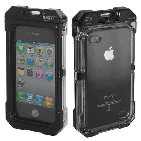 Genuine iPega Waterproof Case Cover PG-IH095 for AppleiPhone 4, 4S, Case in Black