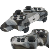 Skque Silicone Soft Protective Case Cover for Sony PlayStation 3 Controller, Camo Pattern, Brown, White