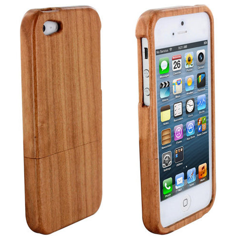 Skque Wood Wooden Shell Hard Case Protector for Apple iPhone 5