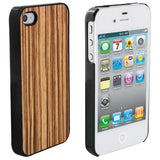 Skque Wood Snap-On Plastic Back Hard Case Cover for Apple iPhone 4/4S