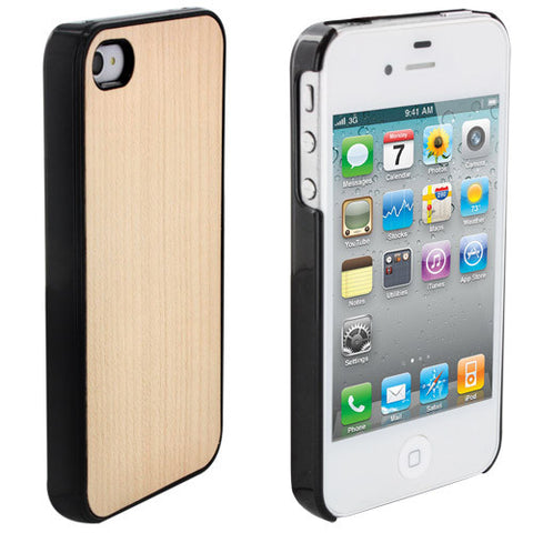 Skque Wood Pattern Plastic Back Hard Case Cover for Apple iPhone 4/4S