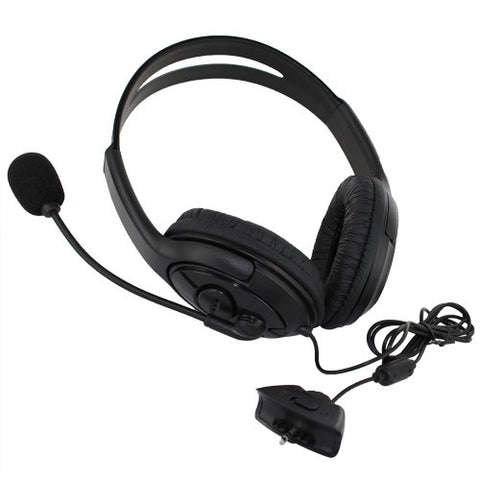 Skque® Headset Handphone Earphone with Microphone for XBOX 360, Black