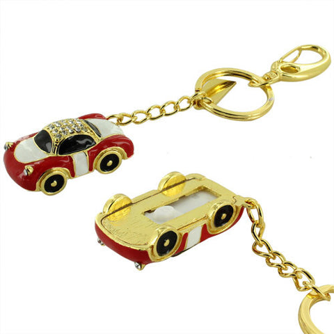 Skque® 32GB Bling Car Shape Key Chain USB 2.0 Flash Memory Drive Disk, Red