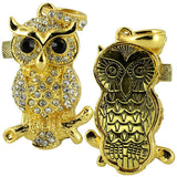 Skque® 32GB Bling Crystal Rhinestone Owl Shape Metal USB 2.0 Memory Drive Disk, Gold