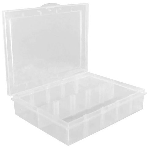 Skque 1 Set Adjustable Grid PP Rectangle Compartment Beads Parts Storage Box Container