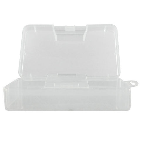 Skque Beads Rectangle PP Storage Case Compartment Organizer Container Tackle, Clear