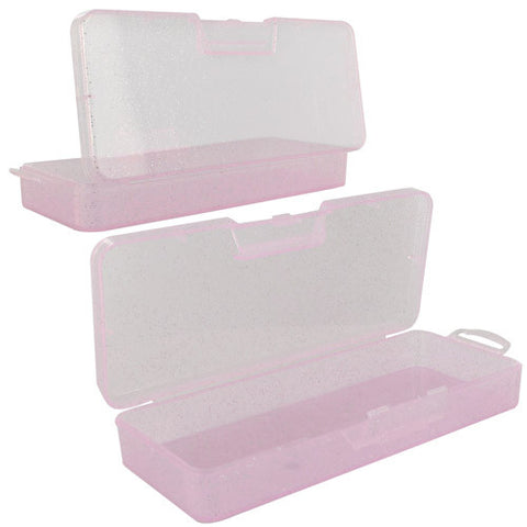 Skque Beads Rectangle PP Storage Case Compartment Organizer Container Tackle, Pink