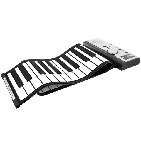 Skque® 61 Keys Roll Up Silicone Digital Electronic Piano Keyboard w/ Loud Speaker