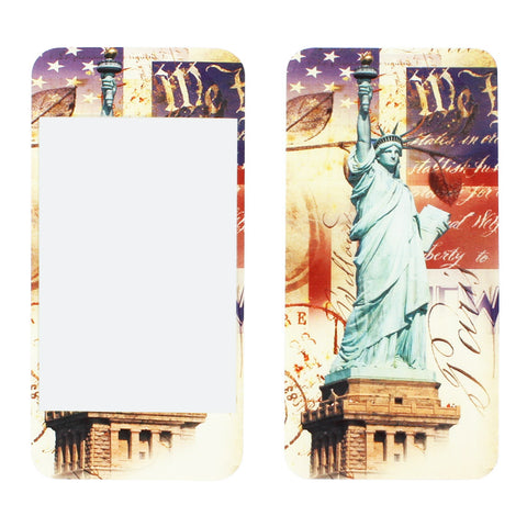 Skque® 3D Relievo Statue of Liberty Front & Back Sticker Screen Protector Full Body Cover Film for Apple iPhone 4/4S