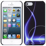 Skque?Relievo Noctilucent Water Wave Hard Back Case Cover for Apple iPhone 5/5S