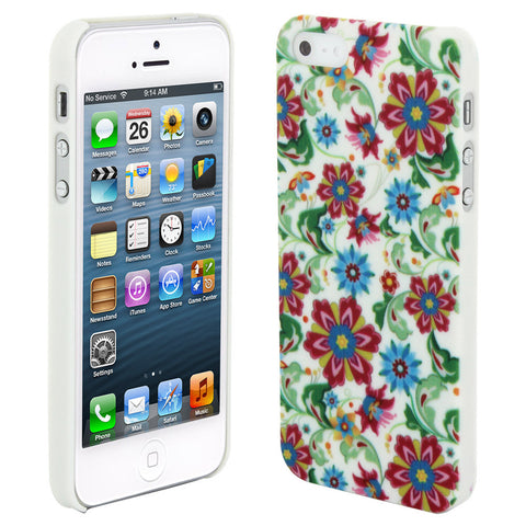Skque®?Chic Floral Flower Protective Hard Back Case Cover for Apple iPhone 5/5S(Design 6)