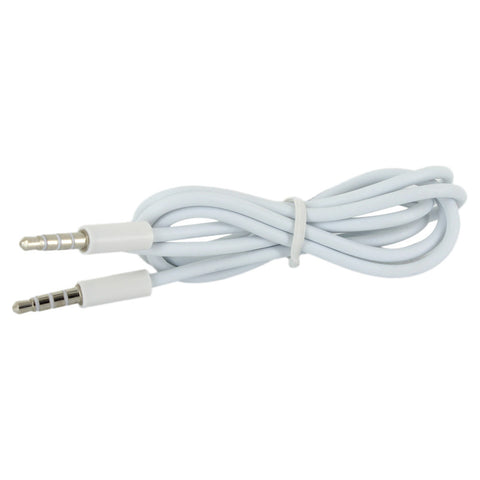 Skque?1M 3.5mm White Male To Male Stereo Extension Adapter Cable