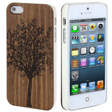 Skque® Natural Brown Wood Big Tree Pattern Hard Case Cover for Apple iPhone 5/5S
