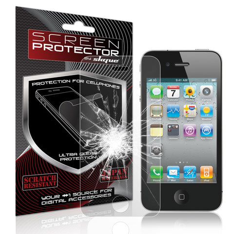 iPhone 4 Screen protector,Skque®Premium Ballistic Slim Radian Tempered Glass Film Screen Protector for Apple iPhone 4/4S(9H Hardness 0.33mm Thin)