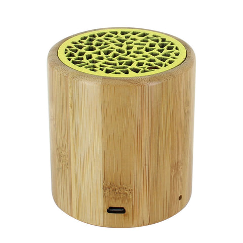 Skque® Portable Mini Wireless Bamboo Bluetooth Speaker for PC Laptop Cellphone MP3 MP4