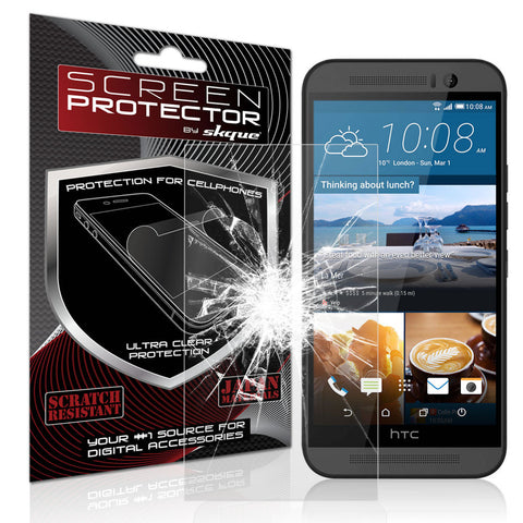 Skque® Premium Ballistic Slim Tempered Glass Film Screen Protector for HTC One M9